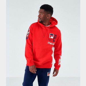 Men's Fila Anders Hoodie Red Sales