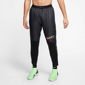 Men's Nike Phenom Elite Air Track Training Pants Black/Scream Green/Bright Crimson Sales