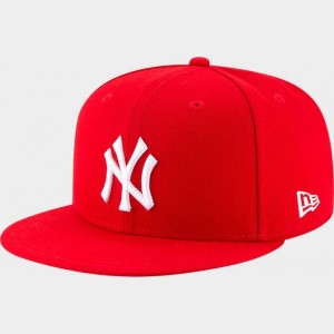 New Era New York Yankees MLB 9FIFTY Snapback Hat Red Sales
