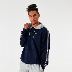 Men's Champion Track Hoodie Navy Sales