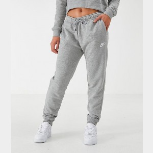 Women's Nike Sportswear Essential Jogger Pants Grey/White Sales