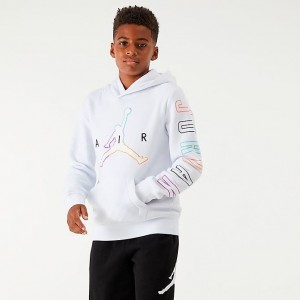 Boys' Jordan Air Future Outline Hoodie White/Multi Sales