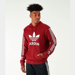 Men's adidas Originals Lock Up Hoodie Burgundy/White Sales