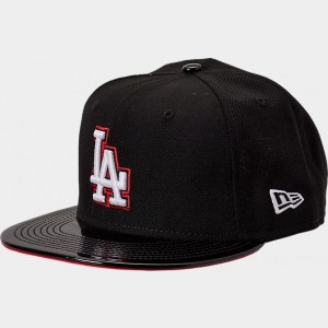 New Era Los Angeles Dodgers MLB Patent 9FIFTY Snapback Hat Black/Red Sales