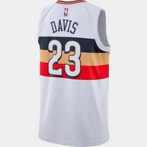 Men's Nike New Orleans Pelicans NBA Anthony Davis Earned Edition Swingman Jersey White Sales