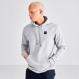 Men's Under Armour Rival Fleece Pullover Hoodie Steel Heather/Black Sales
