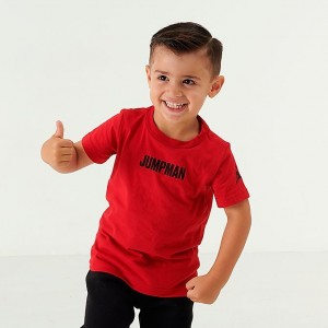 Kids' Toddler Air Jordan Jumpman Graphic T-Shirt Red/Black Sales