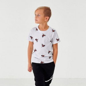 Boys' Little Kids' Jordan Mashup Jumpman Classics Allover Print Graphic T-Shirt White Sales