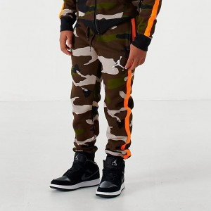 Boys' Jordan Jumpman Air Fleece Camo Jogger Pants Olive/Camo Sales