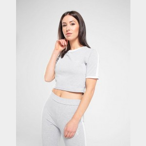 Women's Gym King Crop T-Shirt Grey Sales