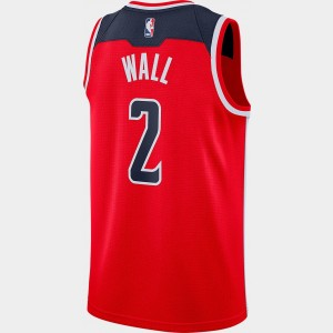 Men's Nike Washington Wizards NBA John Wall Icon Edition Connected Jersey University Red/College Navy Sales