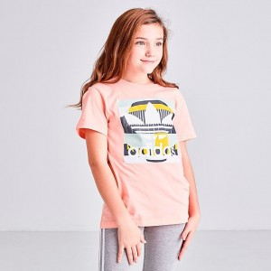Girls' adidas Originals 90's T-Shirt Glow Pink/Multicolor Sales