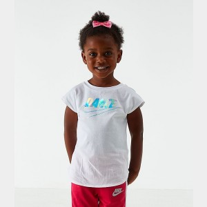 Girls' Toddler Nike Dance T-Shirt White Sales