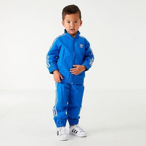 Black Friday 2021 Boys' Infant and Toddler adidas Originals New Icon Track Suit Bluebird/White Sales