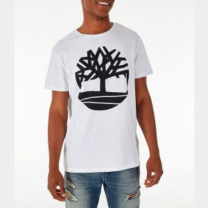 Men's Timberland Big Tree Logo T-Shirt White Sales