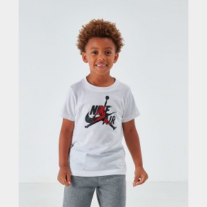 Boys' Little Kids' Air Jordan Mashup T-Shirt White Sales