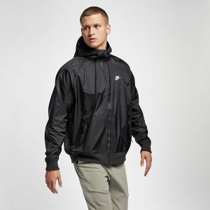 Men's Nike Sportswear Colorblock Windrunner Hooded Jacket Black/Black/Black/Sail Sales