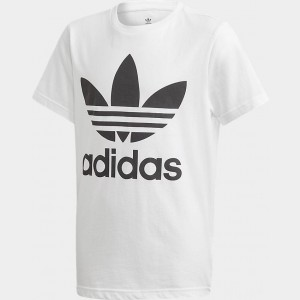 Kids' adidas Originals Trefoil T-Shirt White/Black Sales