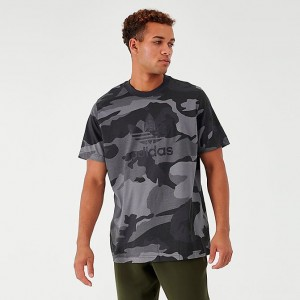 Men's adidas Originals Camouflage Trefoil T-Shirt Mulitcolor/Carbon Sales