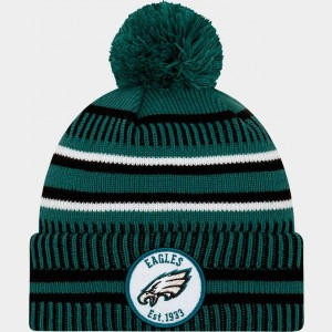 New Era Philadelphia Eagles NFL Home Striped Sideline Beanie Hat Team Colors Sales