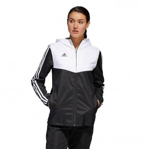 Women's adidas Soccer Tiro Windbreaker Jacket Black Sales