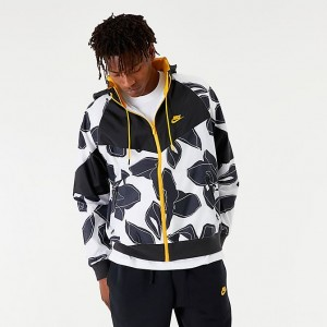 Men's Nike Sportswear Windrunner Floral Jacket White Sales