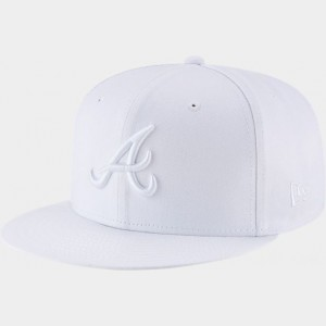 New Era Atlanta Braves MLB 9FIFTY Snapback Hat White Sales