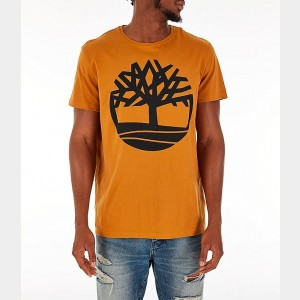 Men's Timberland Big Tree Logo T-Shirt Wheat Sales