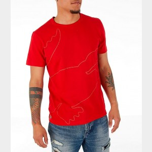 Men's Lacoste Big Croc T-Shirt Red Sales