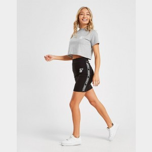 Women's SikSilk Crop T-Shirt Grey Sales