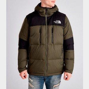 Men's The North Face Himalayan Parka Dark Green Sales