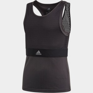 Girls' adidas New York Tennis Tank Black Sales