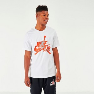 Men's Jordan Mashup Classics T-Shirt White/Infrared Sales