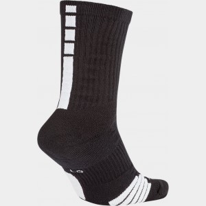 Unisex Nike Elite Crew Basketball Socks Black/White Sales