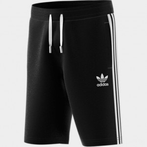 Boys' adidas Originals Fleece Shorts Black/White Sales