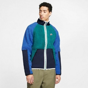 Men's Nike Sportswear Sherpa Winter Jacket Geode Teal/Obsidian/Game Royal Sales
