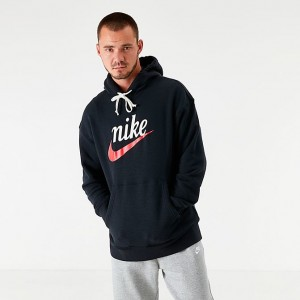 Men's Nike Sportswear Heritage Graphic Hoodie Black Sales