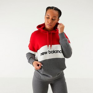 Women's New Balance Athletics Stadium Hoodie Red Sales