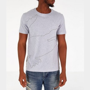 Men's Lacoste Big Croc T-Shirt Grey Sales