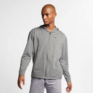 Men's Nike Dri-FIT Full-Zip Hoodie Black/Heather/Black Sales
