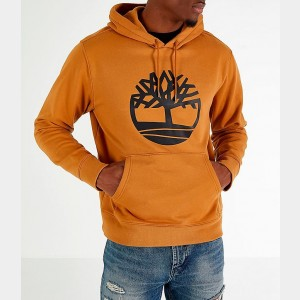 Men's Timberland Big Tree Logo Hoodie Wheat Sales