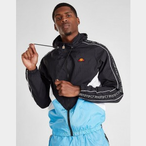 Men's Ellesse Lapaccio Hooded Full-Zip Jacket Black/Blue Sales
