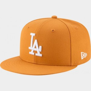 New Era Los Angeles Dodgers MLB 9FIFTY Snapback Hat Tan Sales