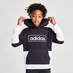 Boys' adidas Originals Colorblock Logo Hoodie Black/White Sales