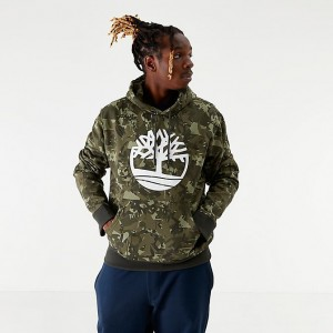 Men's Timberland Camo Logo Hoodie Grape Leaf Camo Sales
