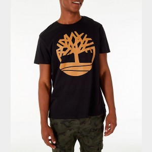 Men's Timberland Big Tree Logo T-Shirt Black Sales