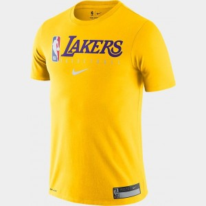 Men's Nike Los Angeles Lakers NBA Practice T-Shirt Amarillo Sales