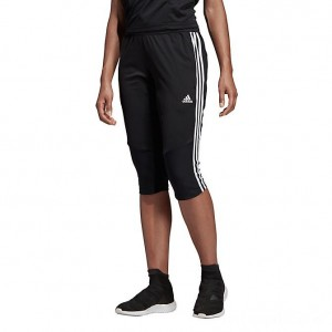 Women's adidas Tiro 19 3/4 Training Pants Black/White Sales