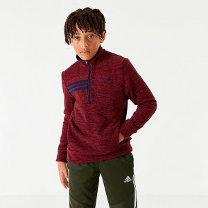 Boys' adidas Microfleece Half-Zip Sweatshirt Dark Red Sales
