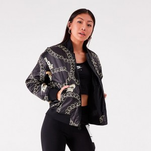 Women's Nike Synthetic Fill Glam Dunk Puffer Jacket Black/Metallic Sales